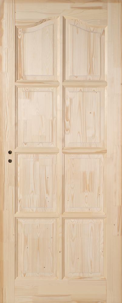 Fenyő íves fa beltéri ajtó