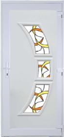 Triton Díszüveges műanyag bejárati ajtó